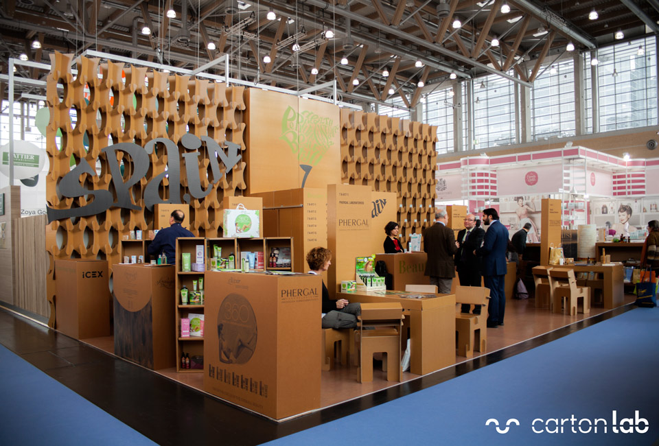 stand icex vivaness biofach cardboard cartonlab cosmetica natural (4)