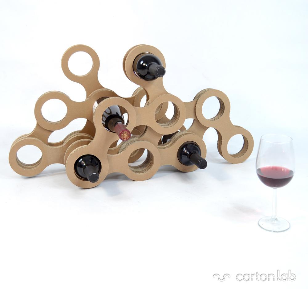 botellero-original-creativo-cartón-ecológico-Cartonlab-ecodiseño
