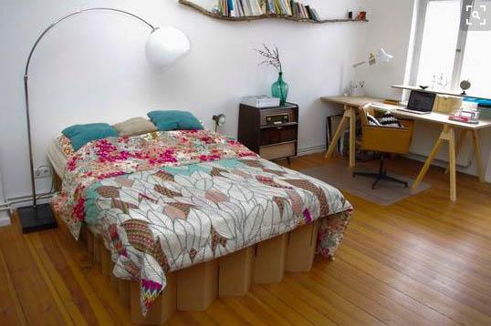 cama de carton auxiliar plegable ecologica cartonlab 4