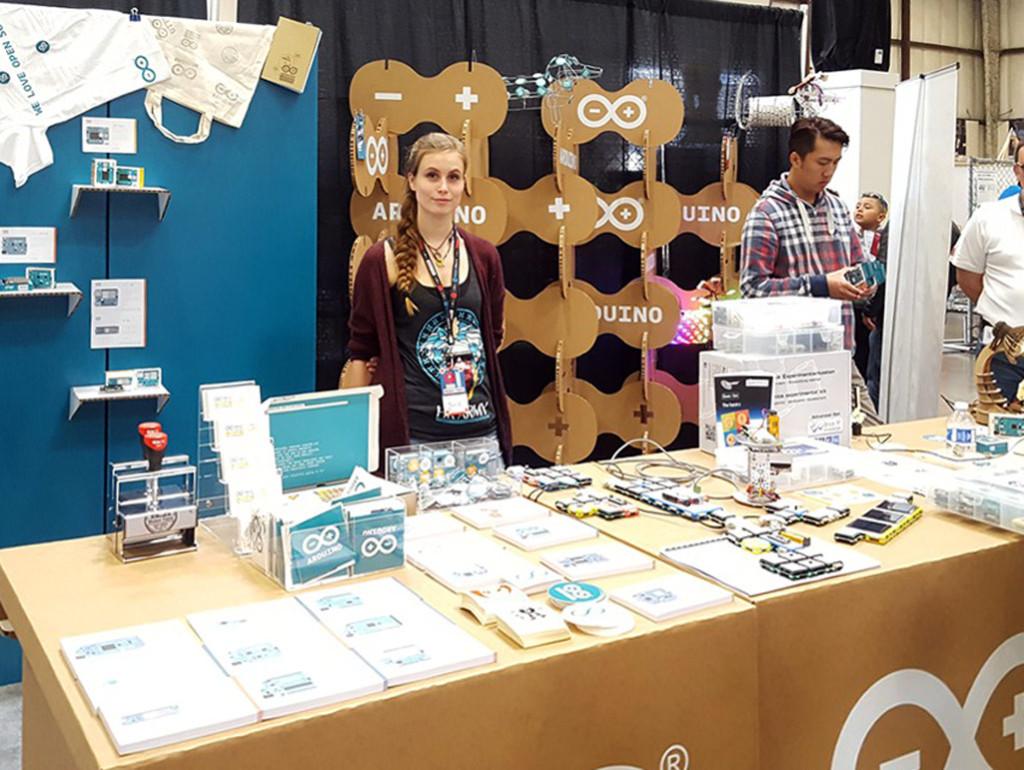 arduino maker faire stand carton celosia cartonlab san francisco