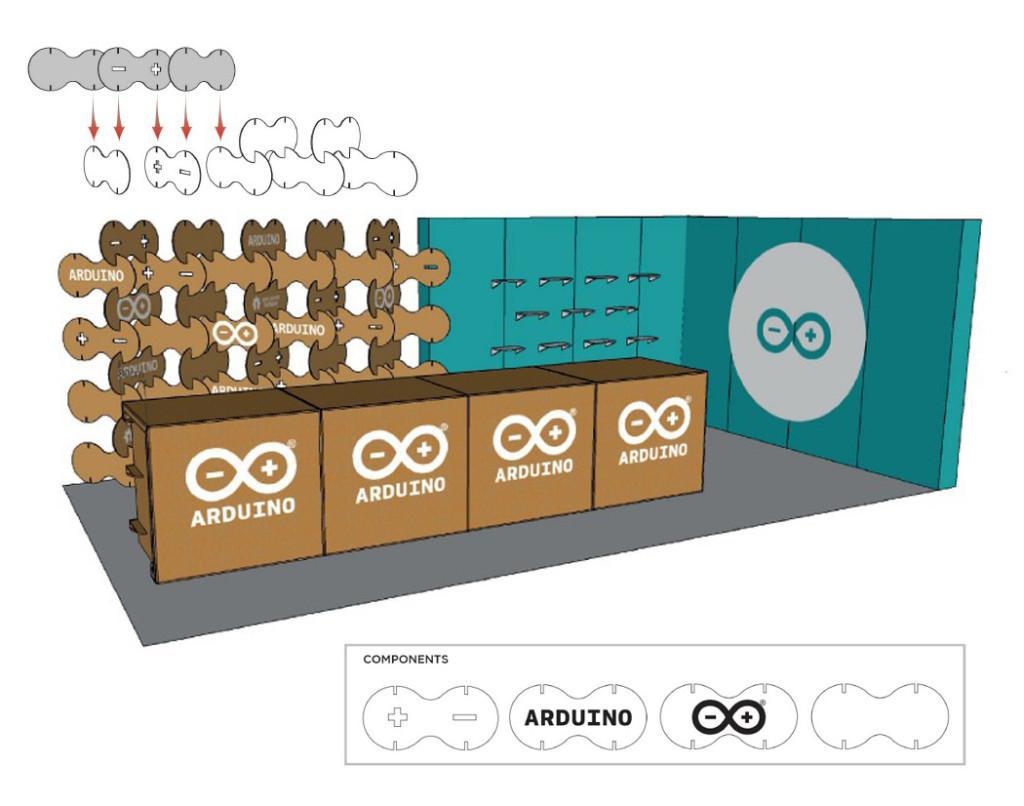 arduino maker faire stand carton celosia cartonlab san francisco lettice cardboard