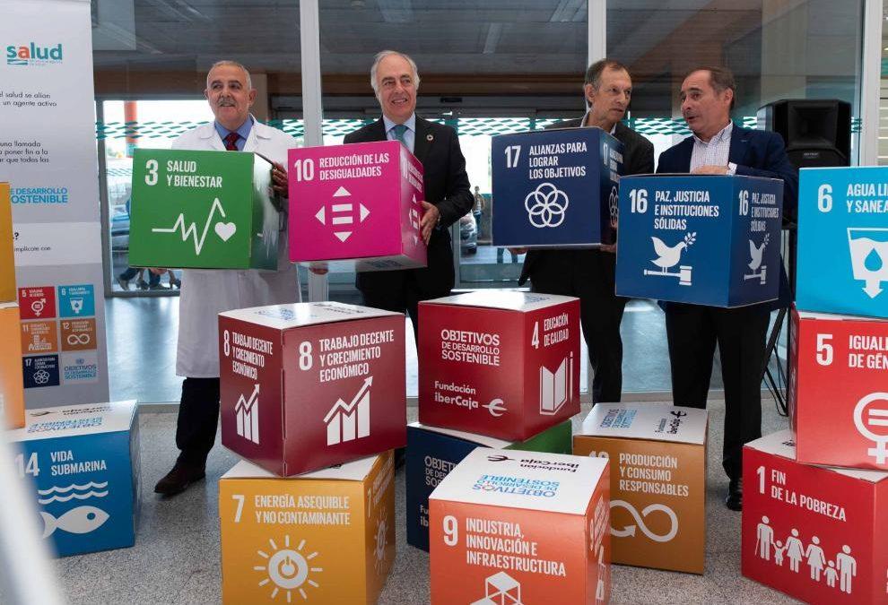 Cubos de cartón para campañas ODS