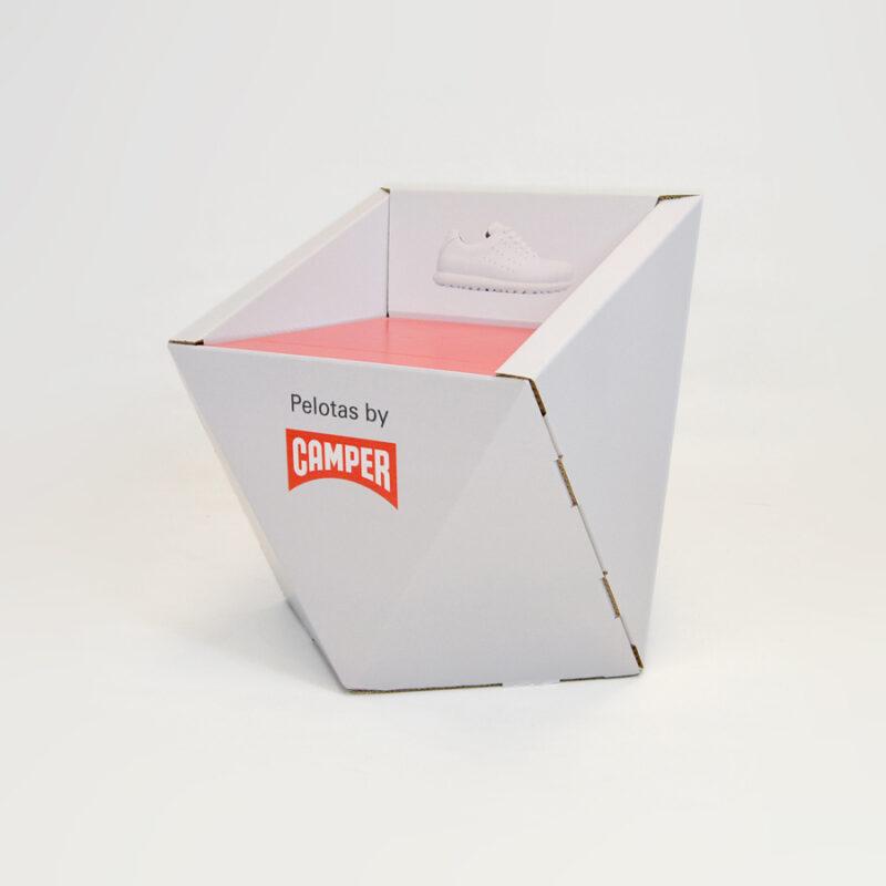 silla de carton modelo faceta personalizada para Camper