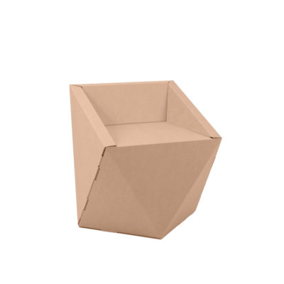 silla carton Faceta girada
