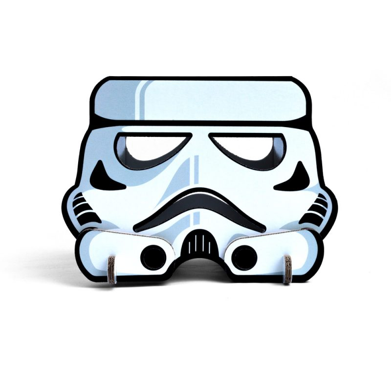 taburete carton modelo stormtrooper lampara