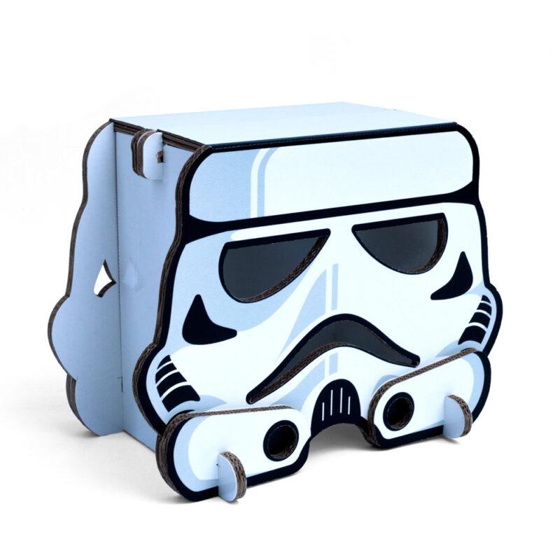 taburete lámpara de cartón modelo stormtrooper