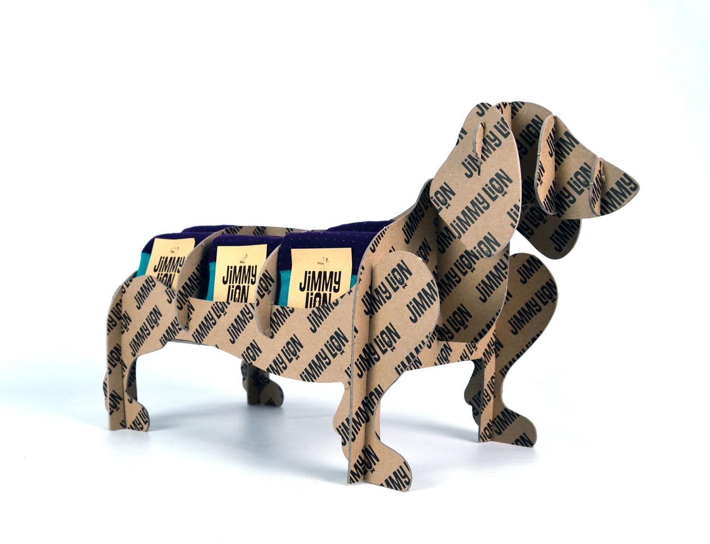 expositor de producto sobremesa carton jimmy lion calcetines