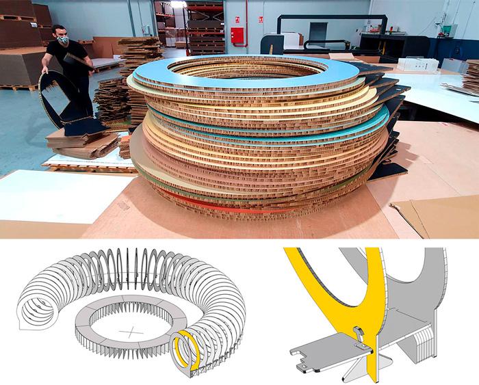 Diseño de decorados con anillos  de colores