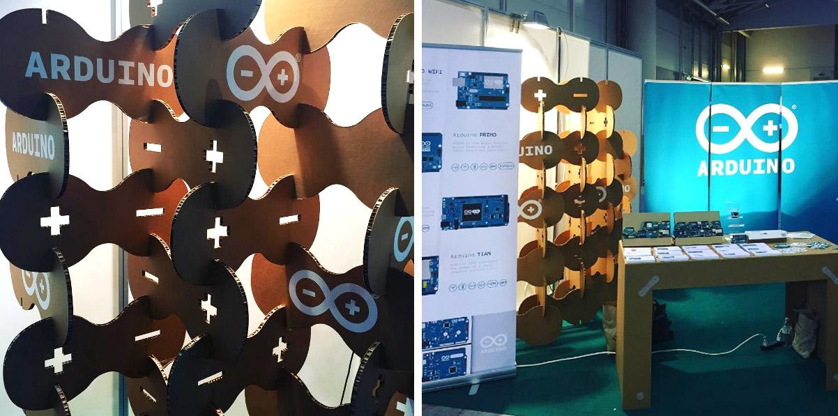 stand-carton-arduino-maker-faire-modular-roma-cartonlab
