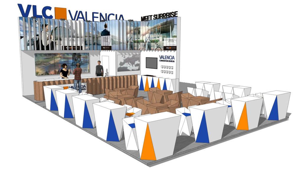 Ideas separar ambientes. Stand Valencia