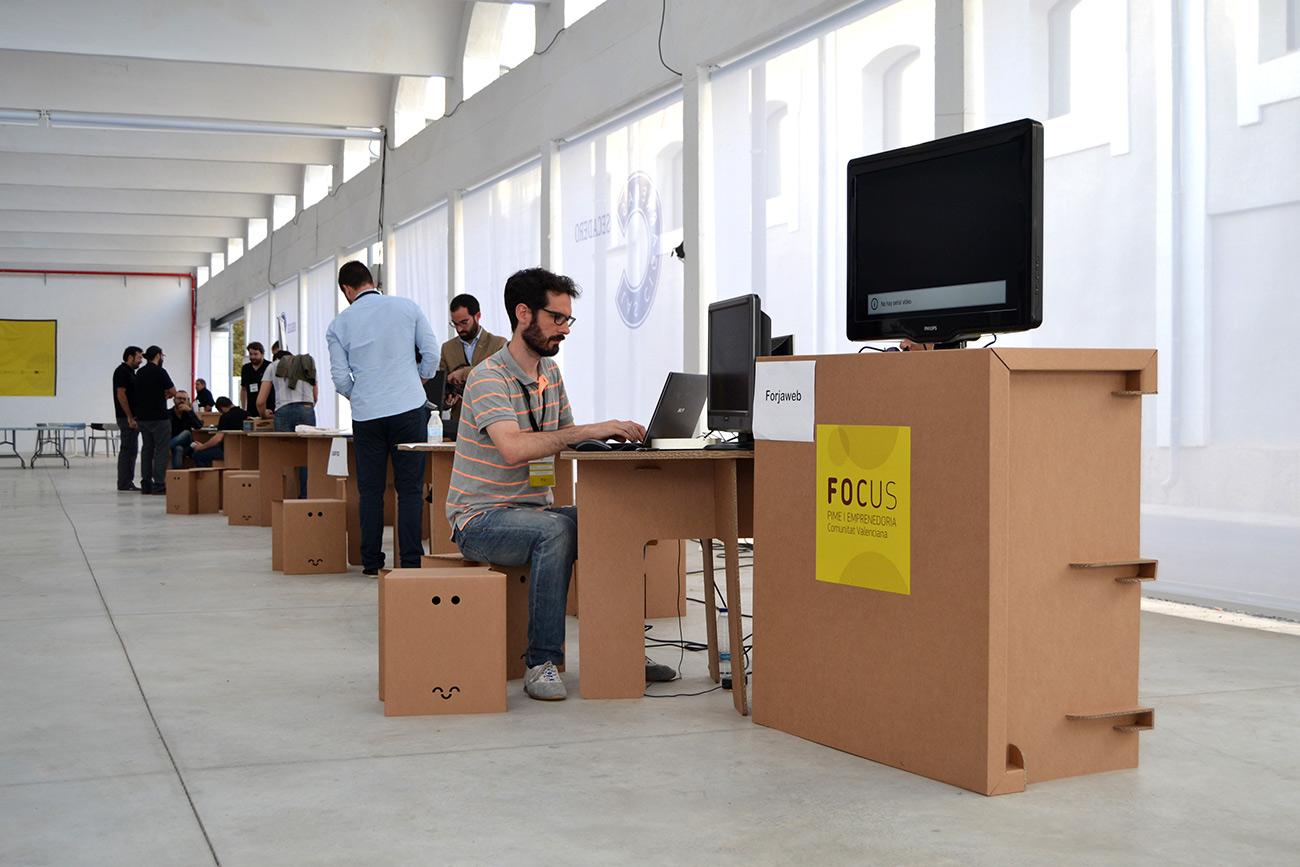 muebles carton organizacion de eventos sostenibles cartonlab