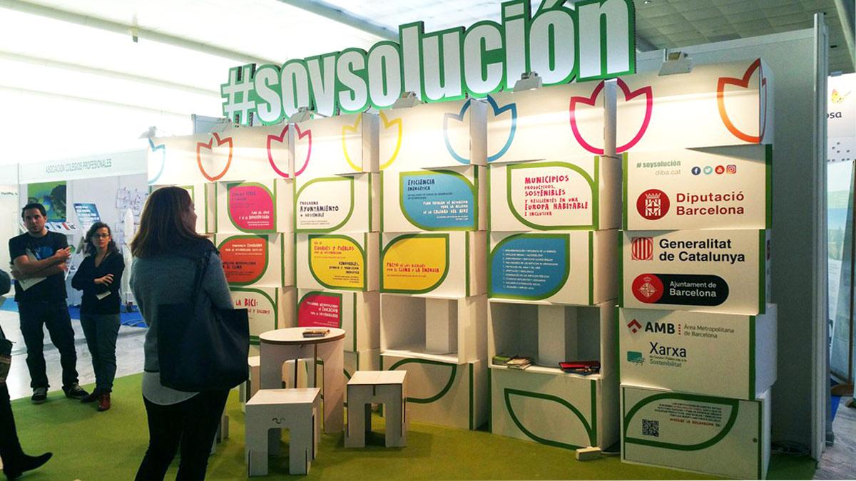 stand para congreso medio ambiente conama diputacion barcelona