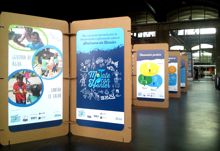 organizacion de eventos sostenibles paneles expositivos modulares hunter carton cartonlab
