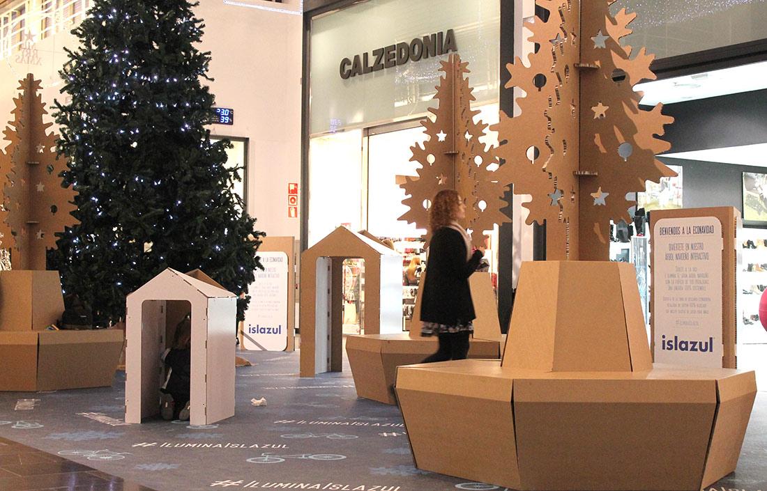 decoracion de econavidad centro comercial