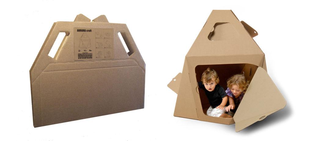 aurora craft casita carton original creativa niños