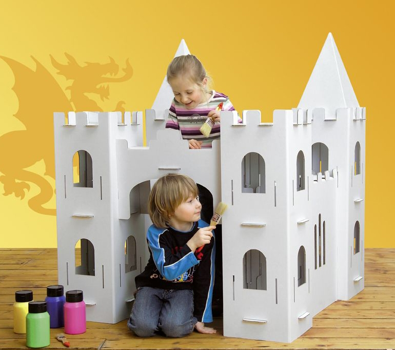 calafant cardboard castle casitas de cartón originales castillo cartonlab