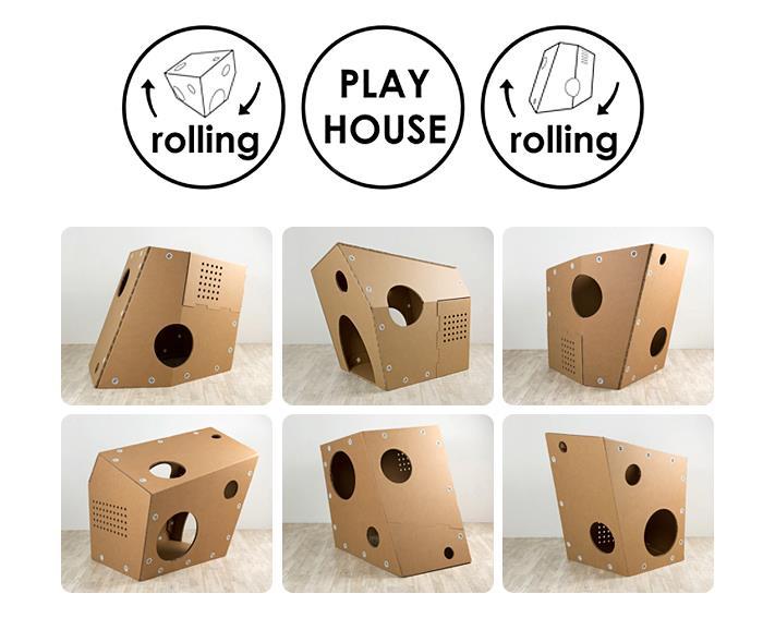 playhouse funny paper rolling casitas de cartón