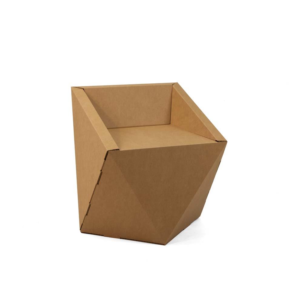 silla carton geometrica faceta 1