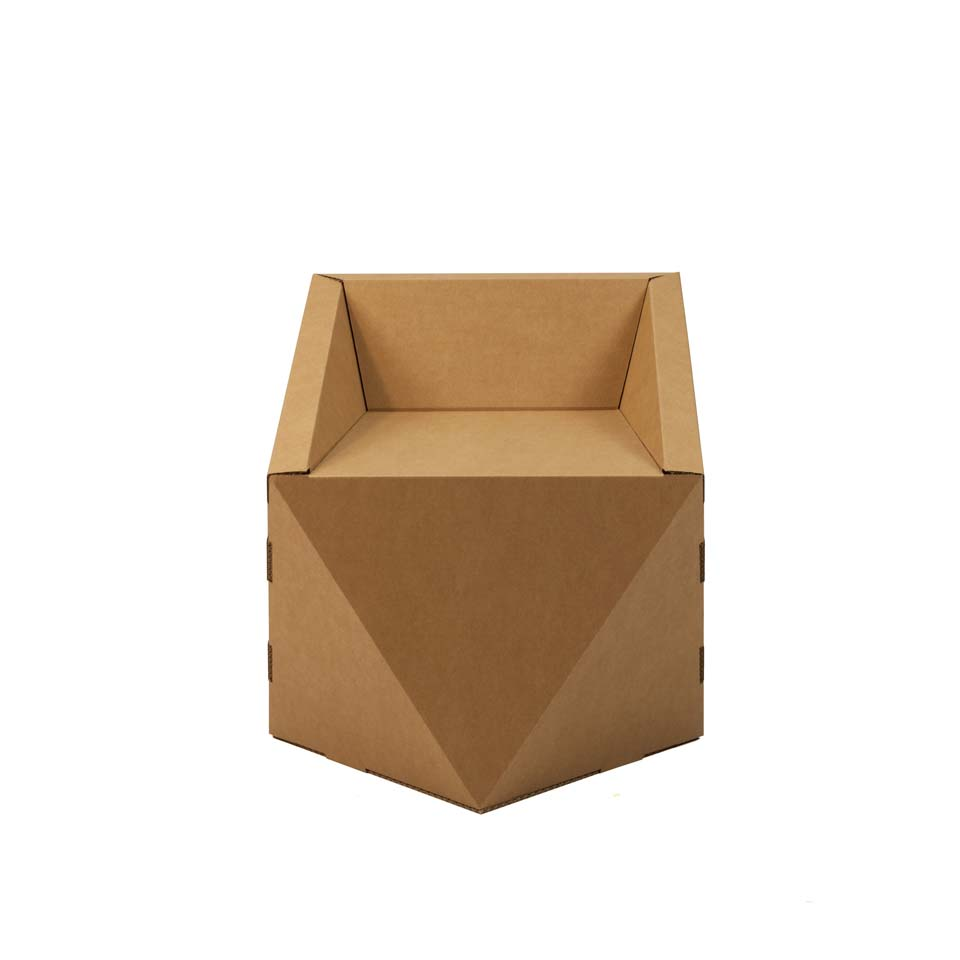 silla carton geometrica faceta 2