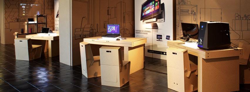 asus we transform the house carton cardboard cartonlab oficina espacio trabajo escritorio
