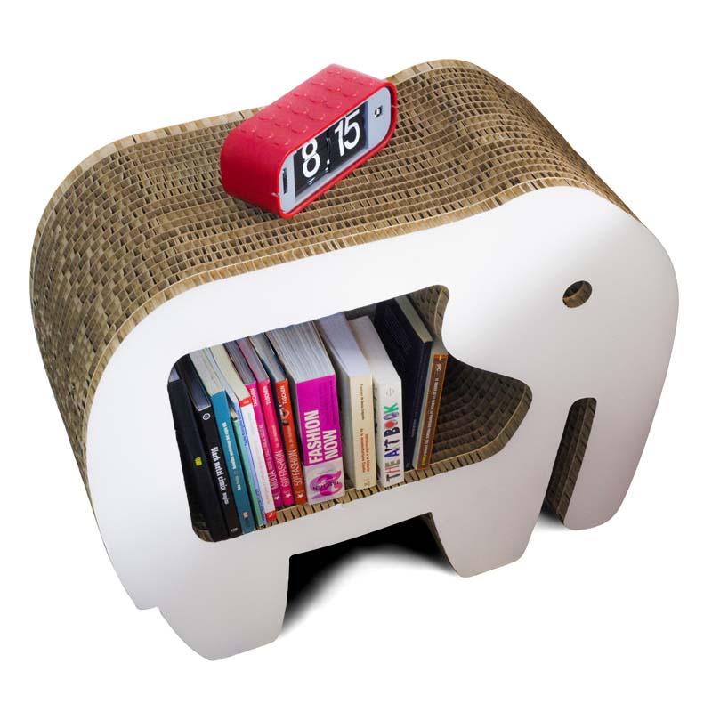 mesita de noche forma elefante carton