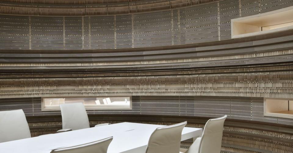 rabobank Sander Architecten cardboard meeting room zona reunion carton despacho banco