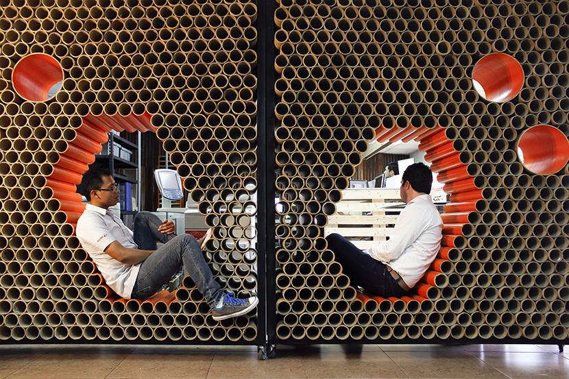 reuso de 1600 tubos de carton last minute jorge villatoro cardboard tubes