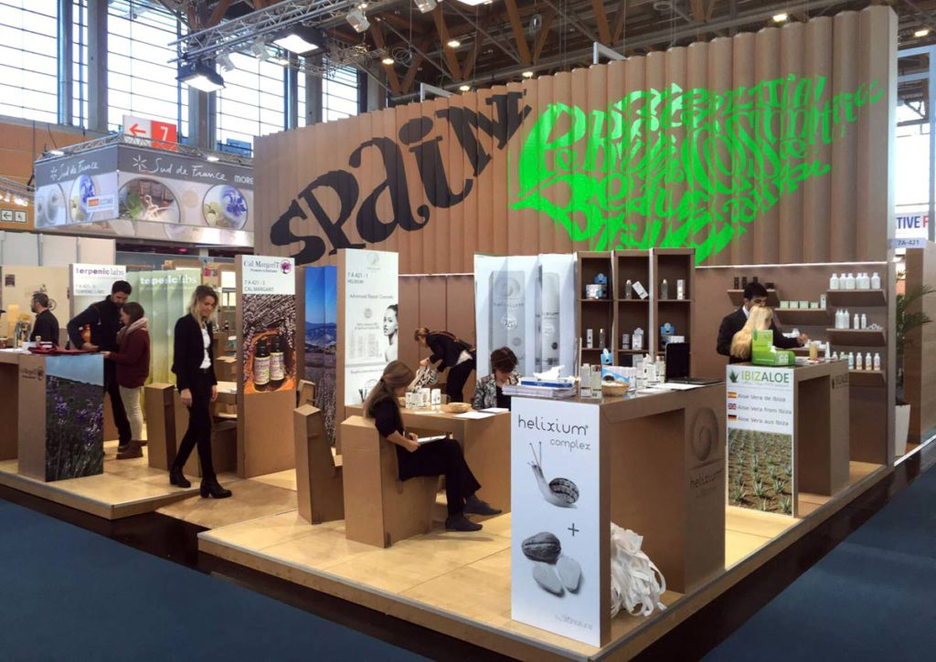stand vivaness booth icex carton cosmetica beauty from spain nuremberg biofach