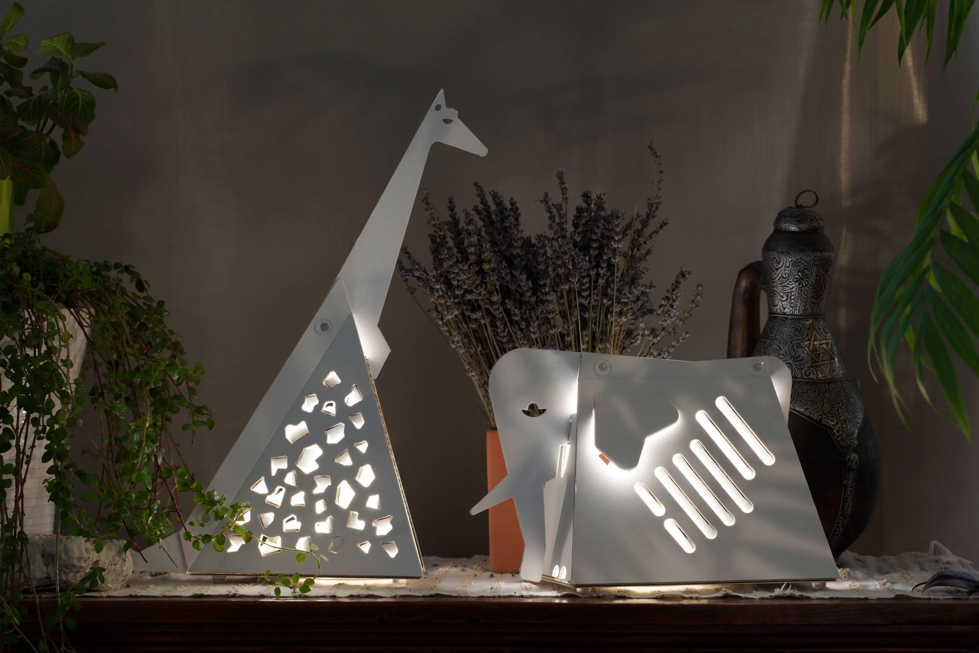CARTUNIA cardboard lamps lampara cartoni