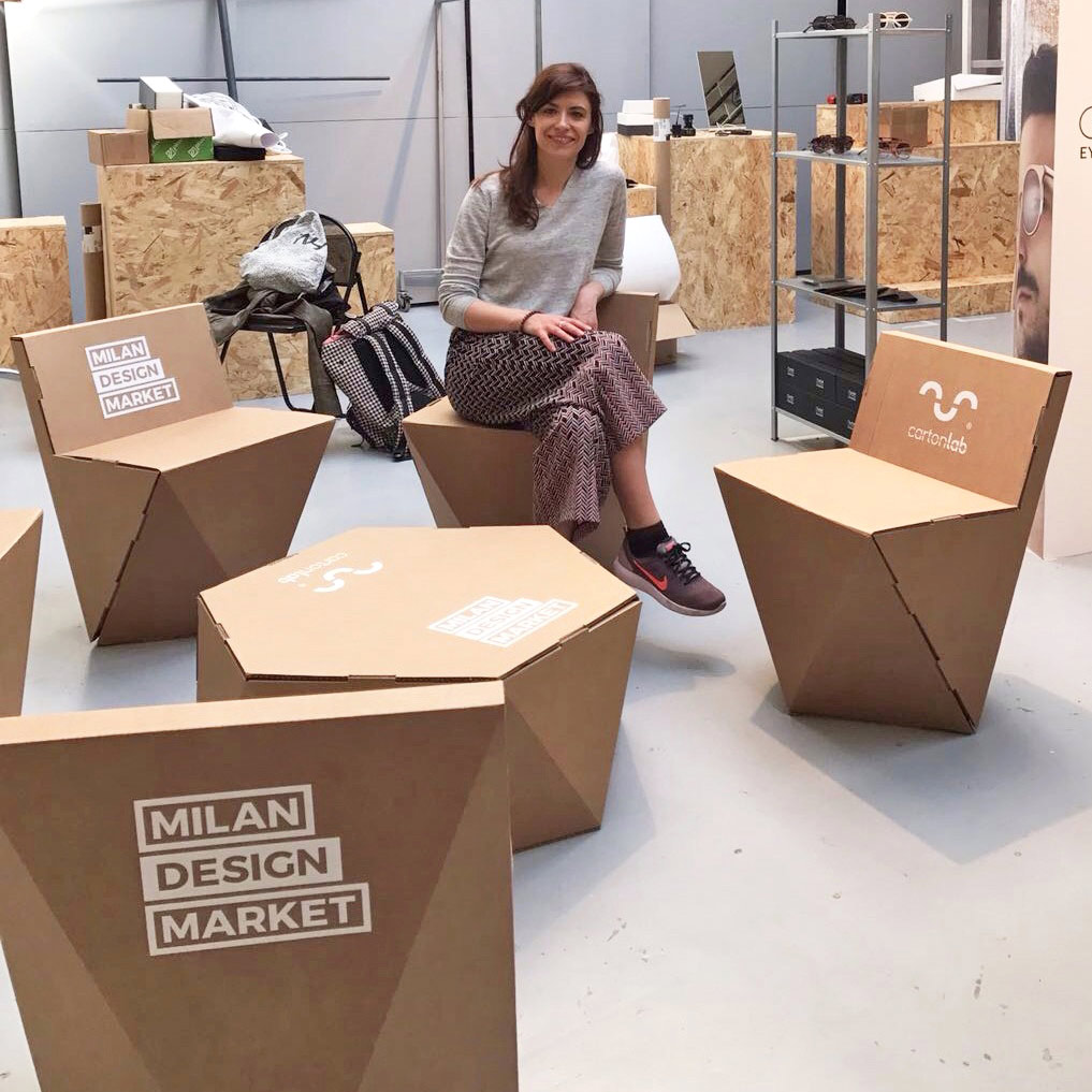 cardboard furniture milan design market