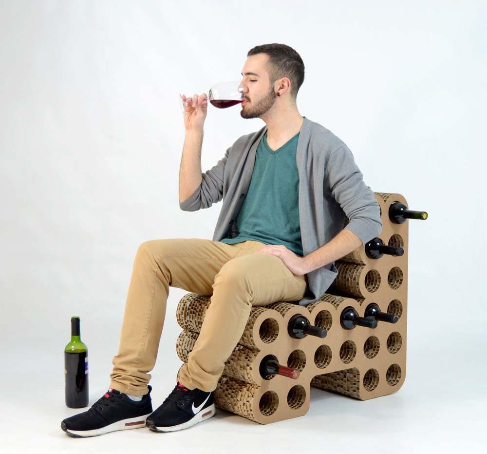 sillón botellero