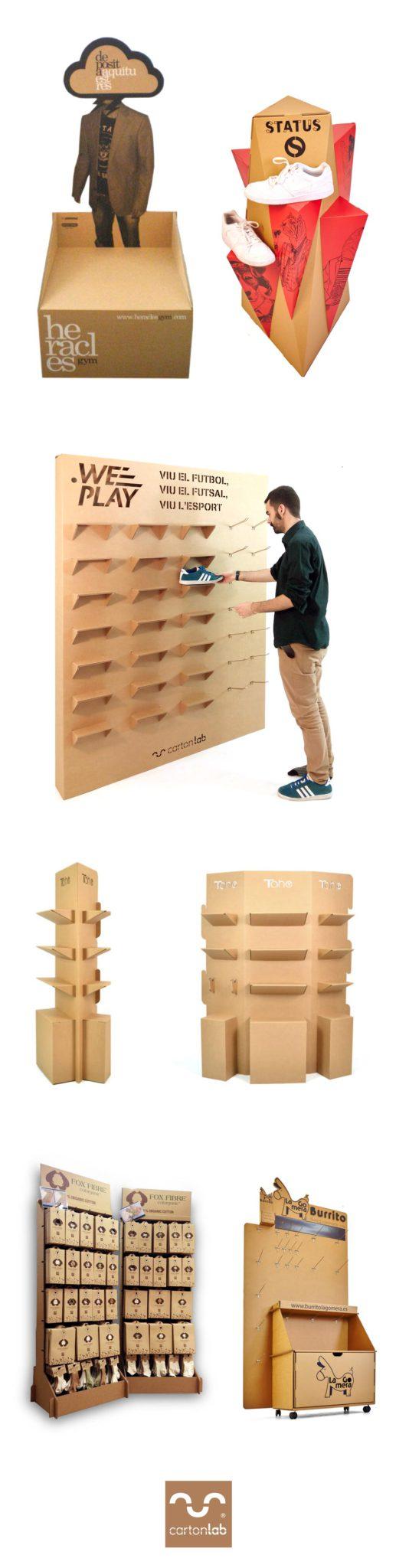 expositores carton cardboard displays