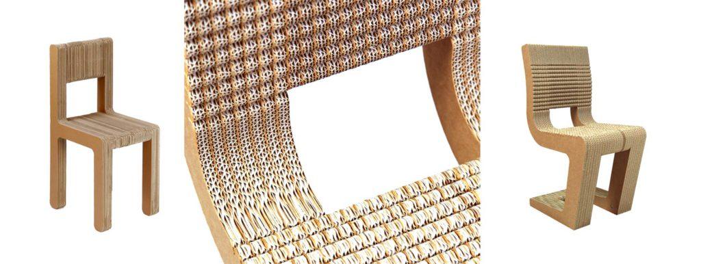 carton ondulado aplicaciones sillas