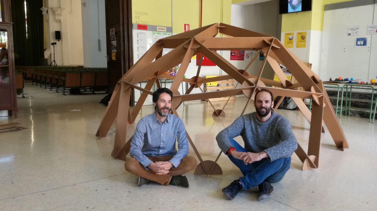 cupula estructura carton desmontable