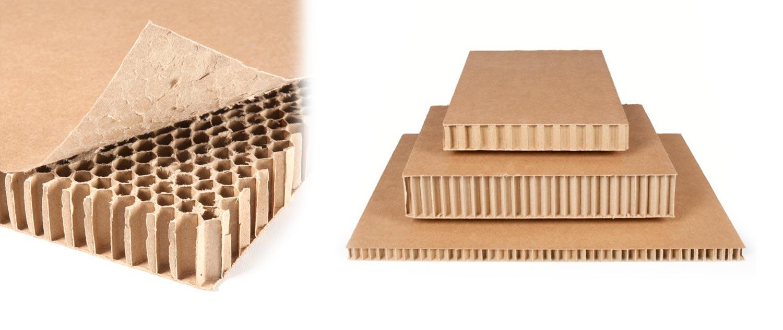plancha cartón tipo nido abeja