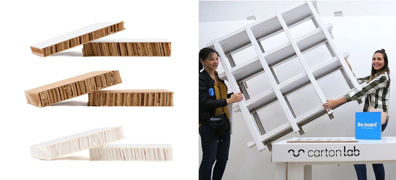 panel reboard carton diseño muebles