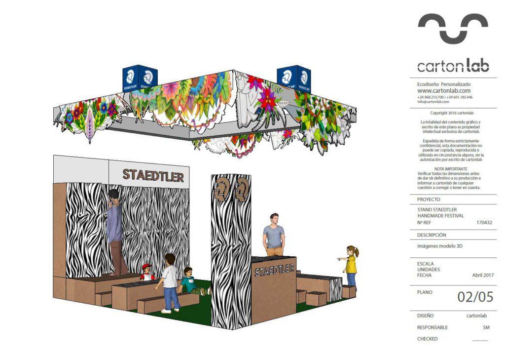 stand Handmade Festival Staedtler interactivo ilustradores ilustracion ilustrar mandalas diseñado por Cartonlab.