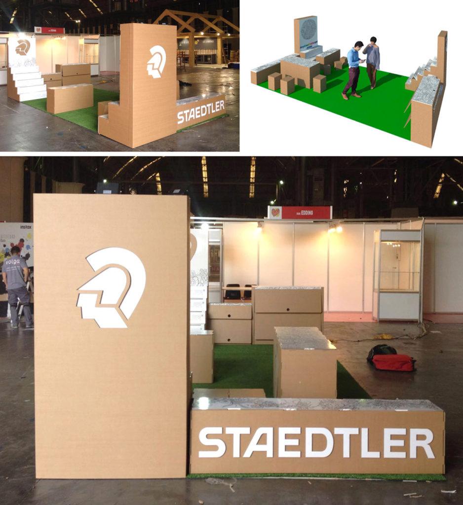 stand Handmade Festival Staedtler interactivo ilustracion ilustrar mandalas pintar diseñado por Cartonlab.