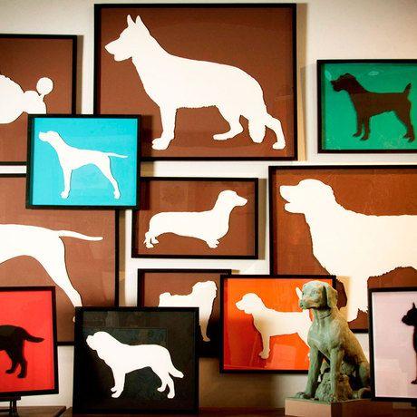 figuras con marcos carton perros