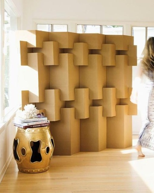 Biombo plegable de cart n para dividir espacios 100 - Biombo de carton ...