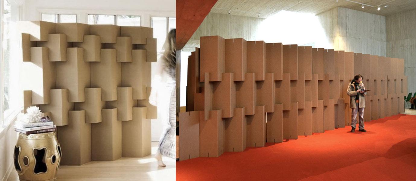 biombo separador carton modular