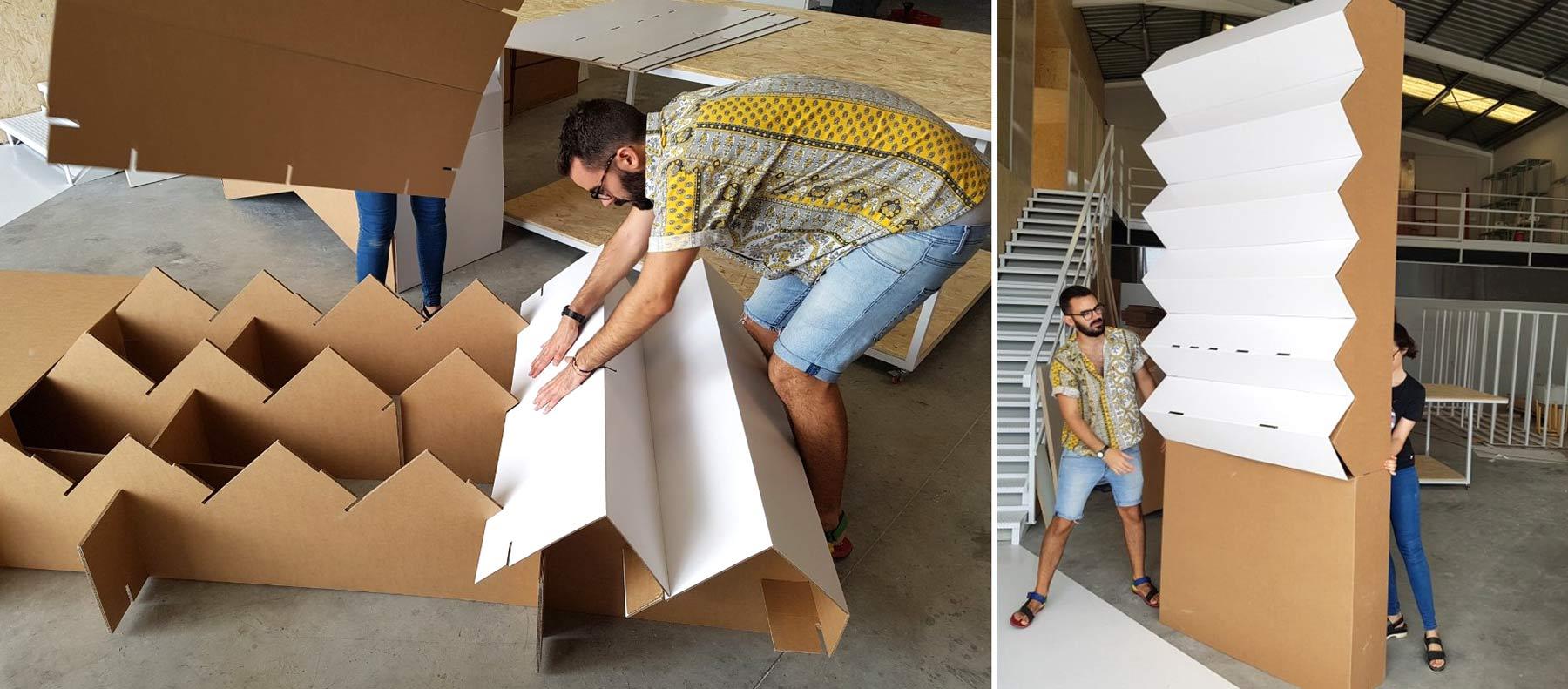 montaje stand carton lugupell