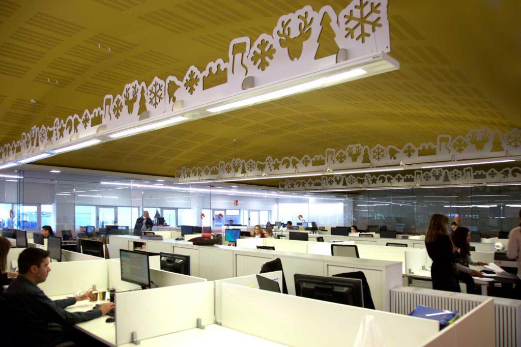 decoracion navidad empresas oficinas carton