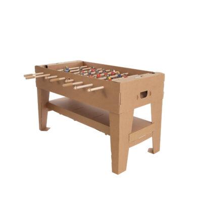 futbolín de cartón mesa de juego