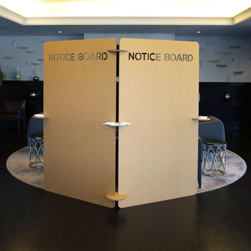 panel para exposiciones carton marron kraft