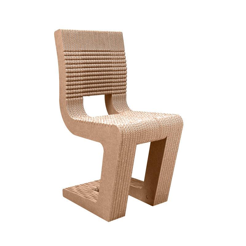 silla cantilever carton girada