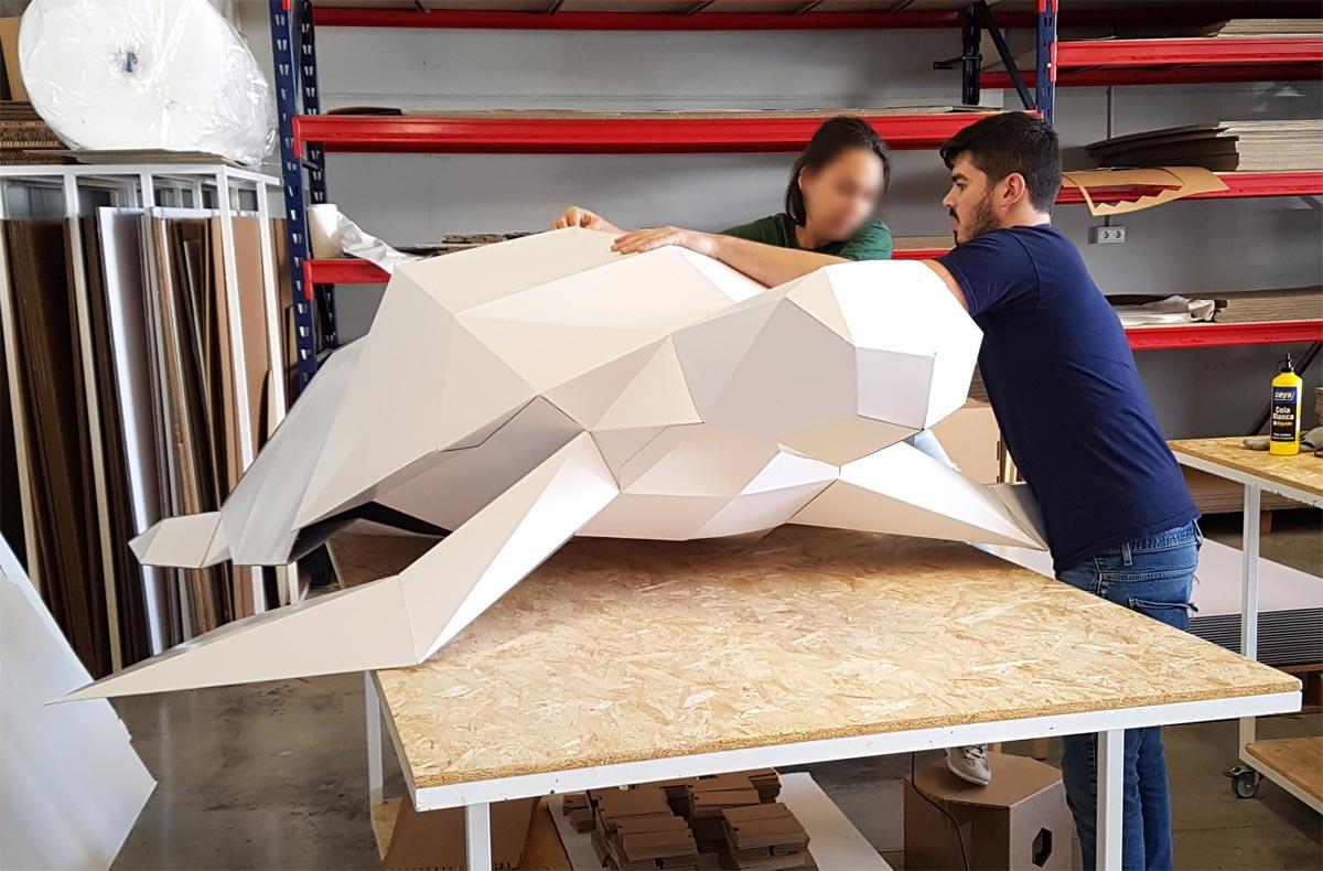 figura gigante tortuga animal carton