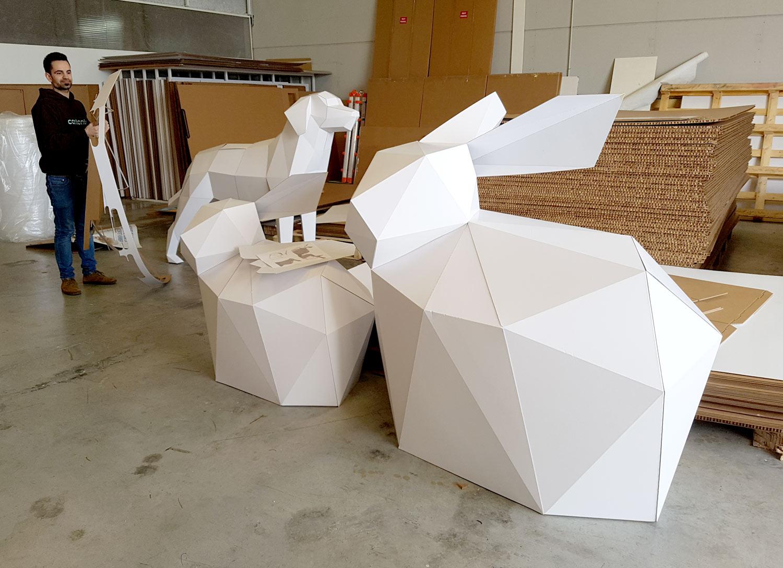 taller montaje figuras animales workshop