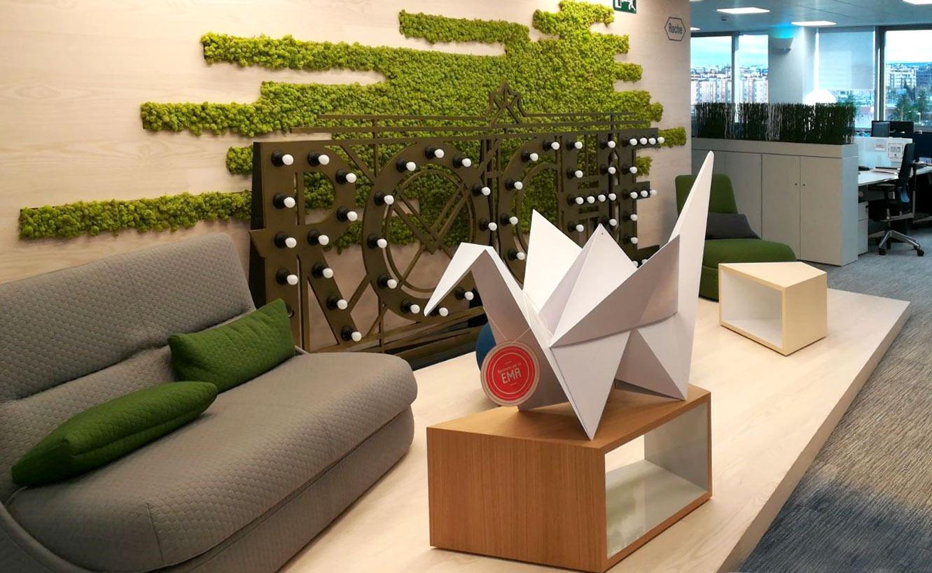 grulla de carton decoracion