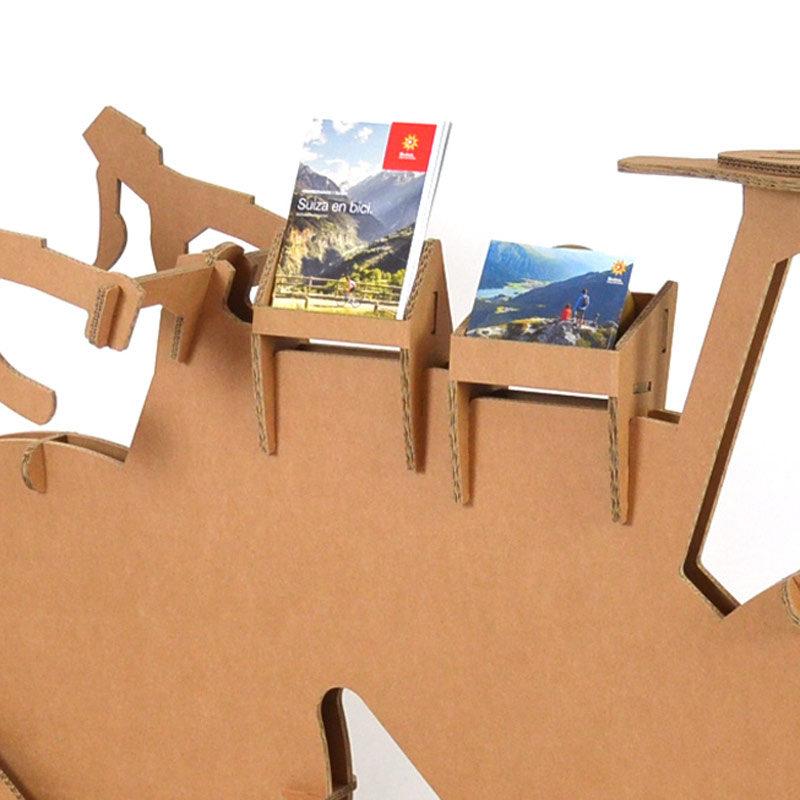 Expositor bicicleta portafolletos de cartón